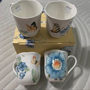 NIB Lenox Butterfly Meadow Bloom Cups